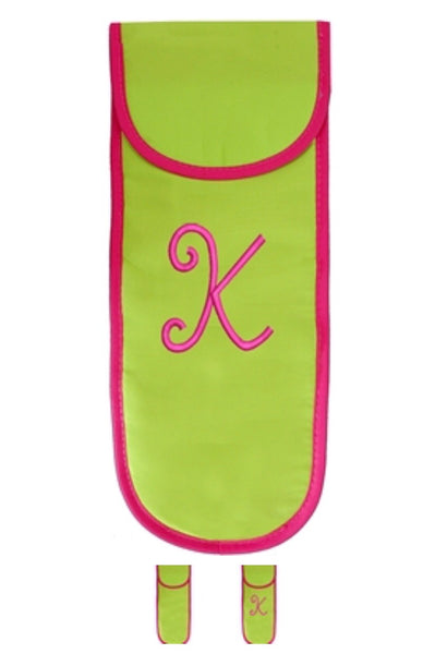 Monogrammed Flat Iron Cover Storage Case