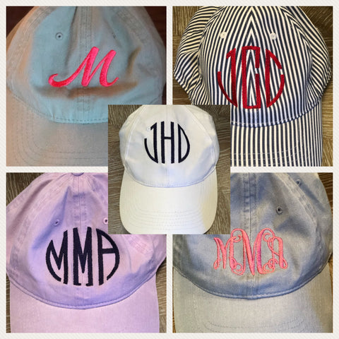 Monogrammed Personalized Baseball Cap Hat