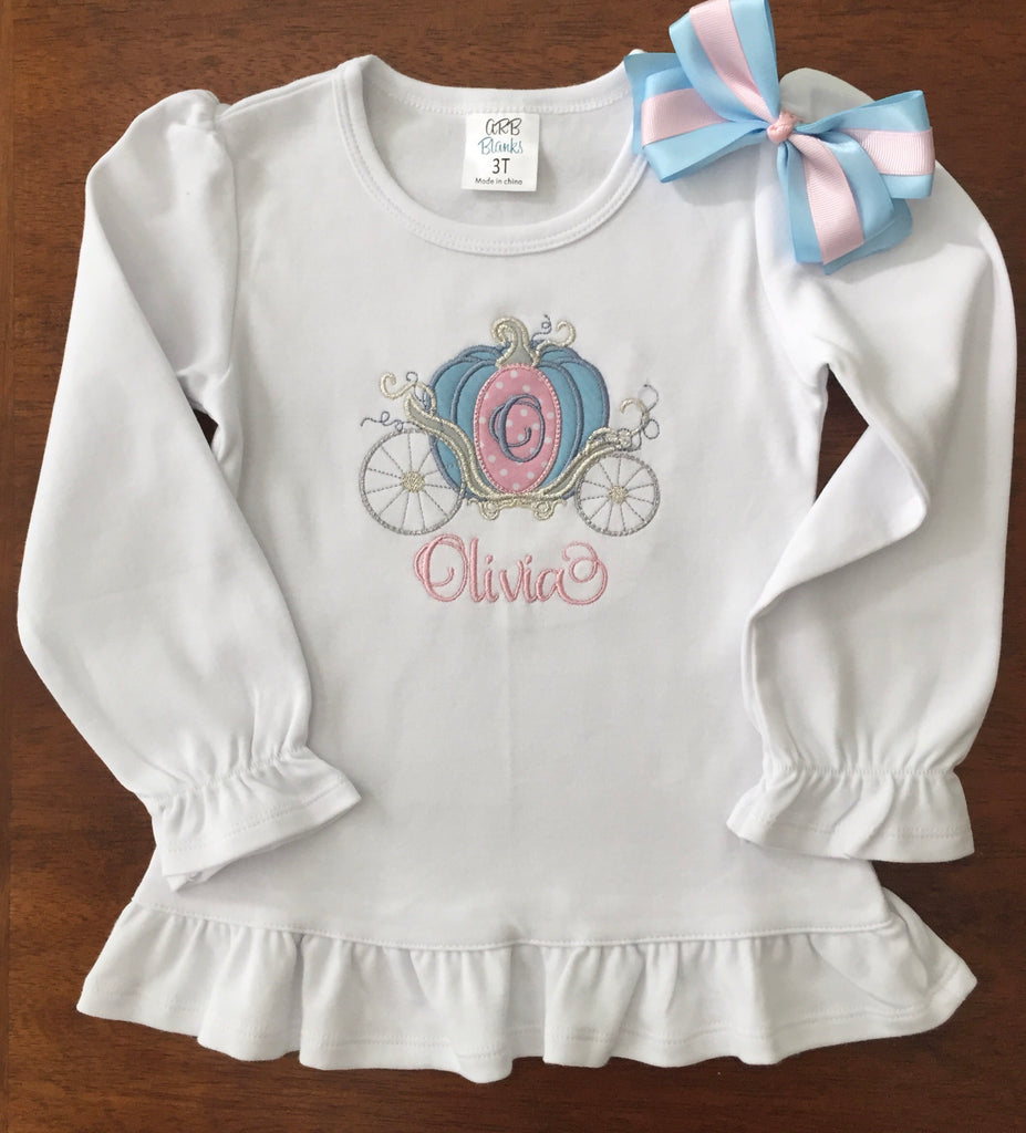 26cce2c8f My First Trip Personalized Embroidered Princess Carriage – The Tutu ...
