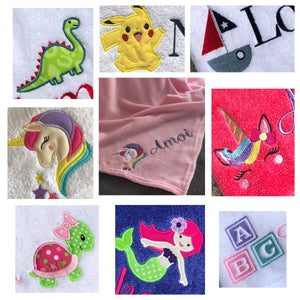 Children's Character Blanket Personalized with Name