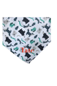 Personalized Forest Animals Print Fleece Throw Blanket