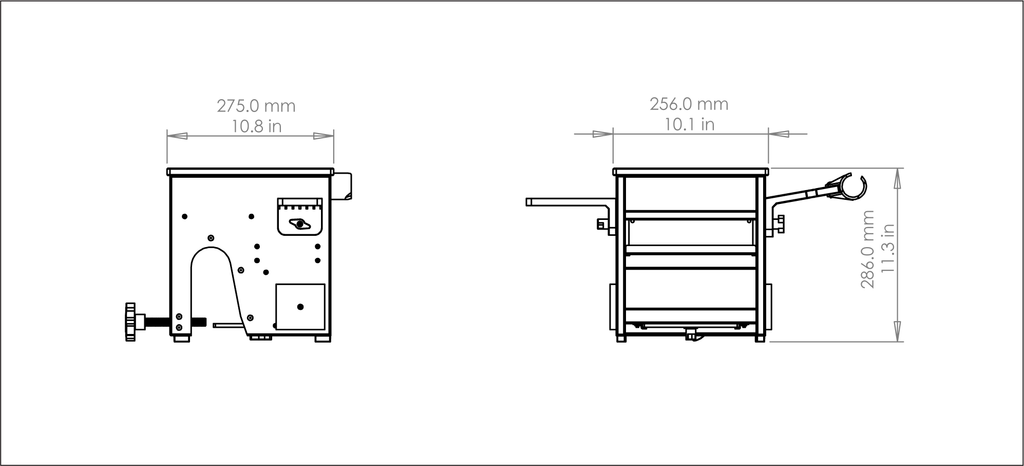 Boat Tote Technical Drawings with Dimensions