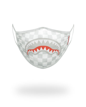 SHARKS IN PARIS (WHITE) FORM-FITTING MASK