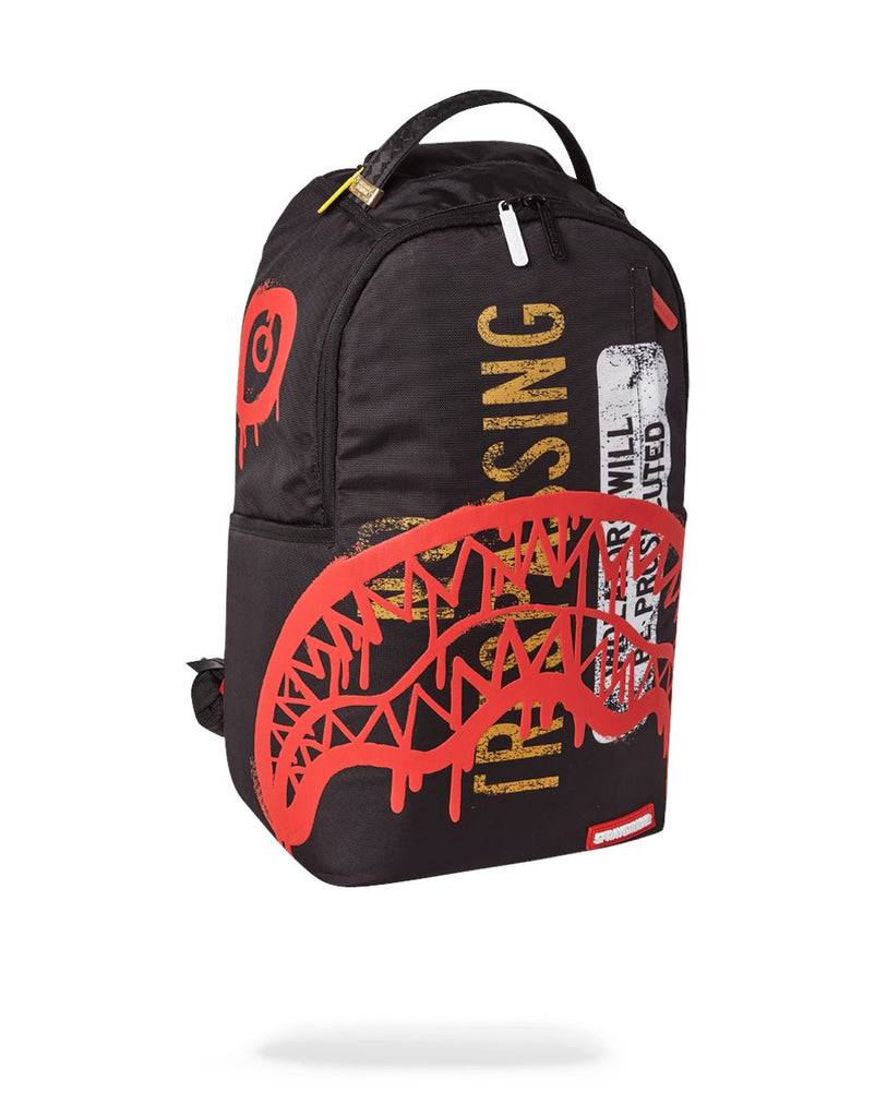 NO TRESPASSING BACKPACK