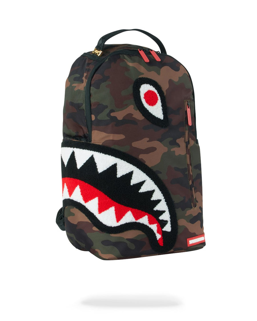 SPRAYGROUND- TORPEDO SHARK (CAMO) BACKPACK BACKPACK