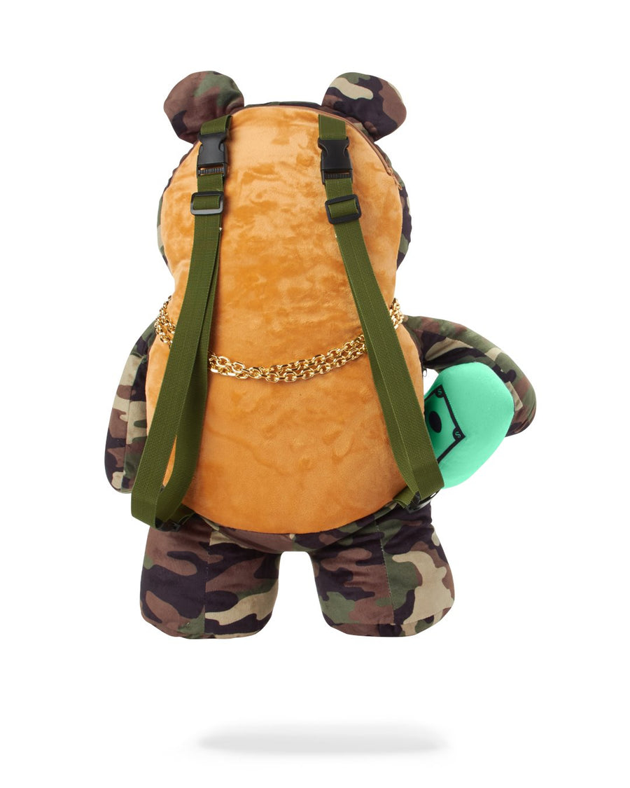 SPRAYGROUND- MONEY BEAR CAMO BACKPACK BACKPACK