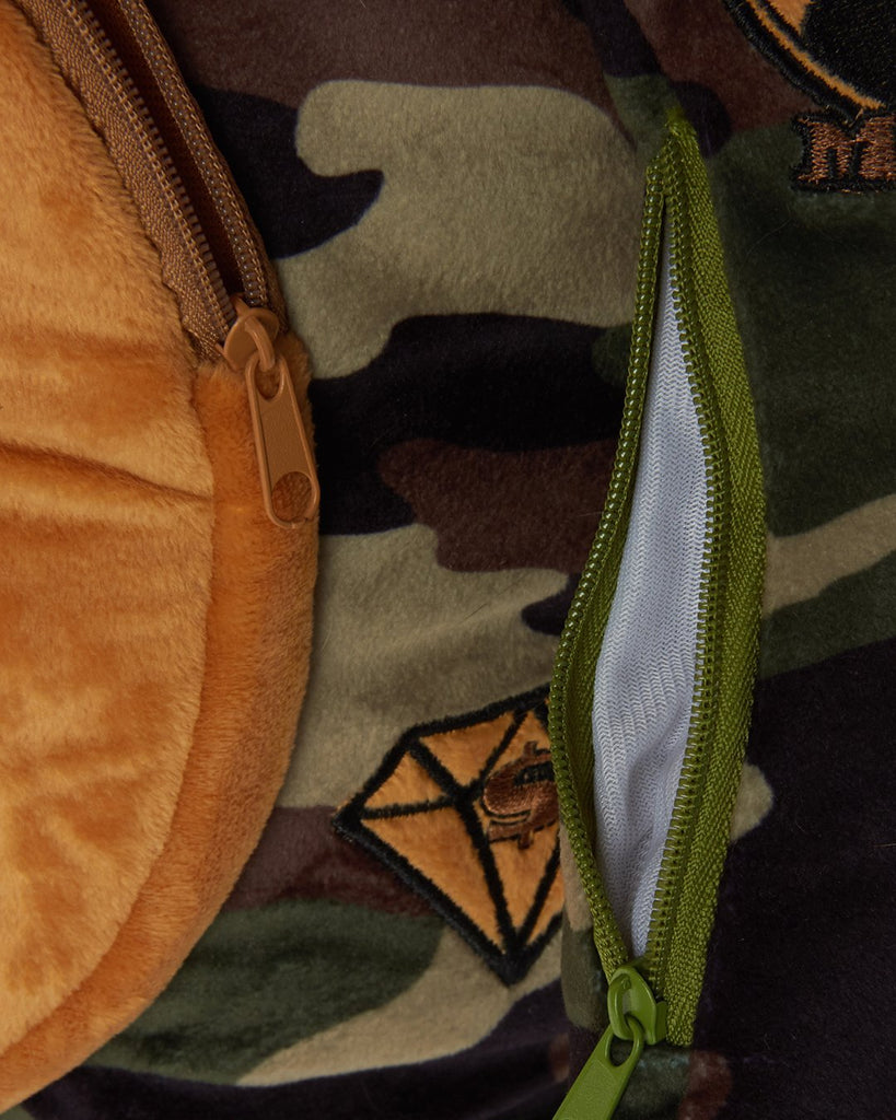MONEY BEAR CAMO BACKPACK