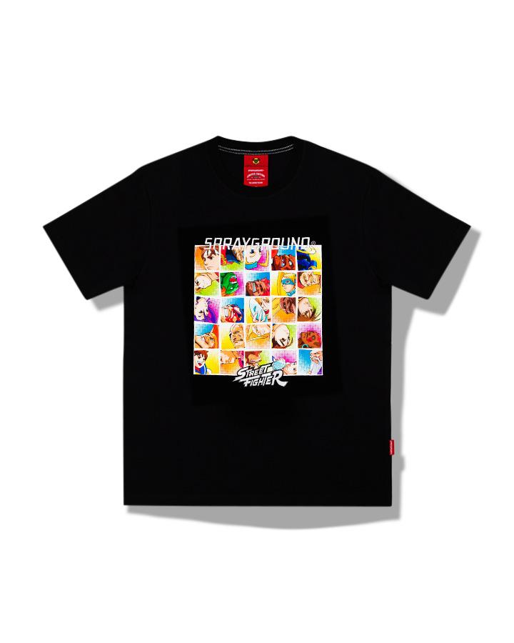 STREET FIGHTER PLAYER SELECT T-SHIRT BLK