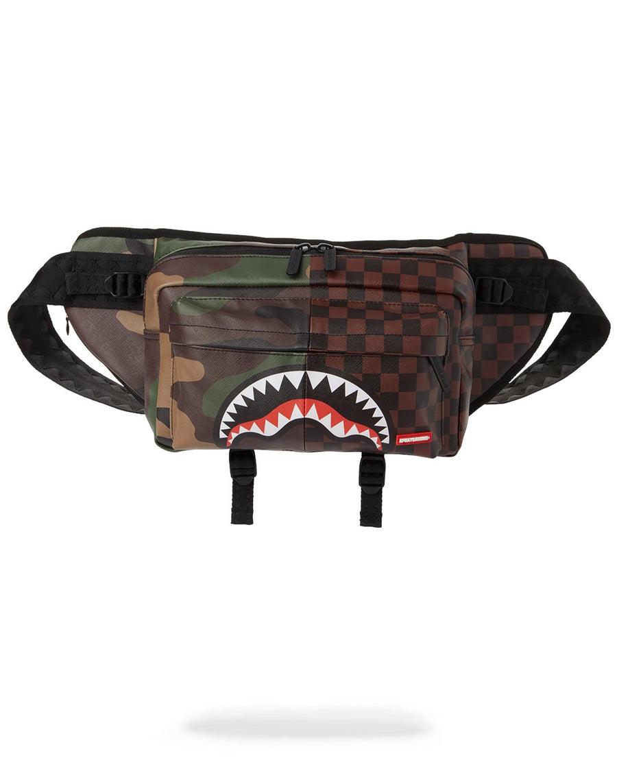 SPRAYGROUND- CARGO CROSSBODY: CHECKS & CAMOUFLAGE CROSSBODY