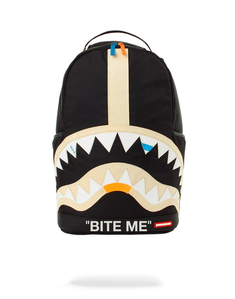 BITE ME SHARK (BLACK) BACKPACK