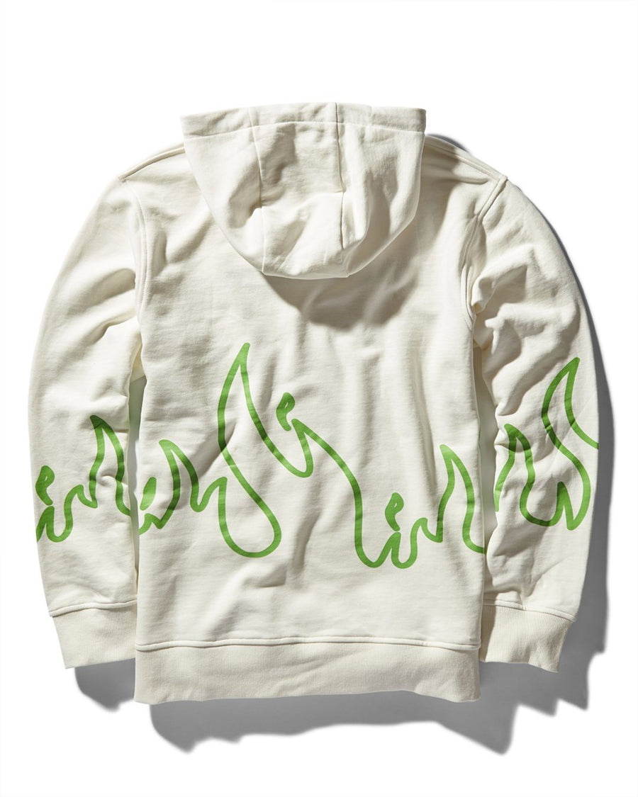 FIRE HOODY (WHITE)