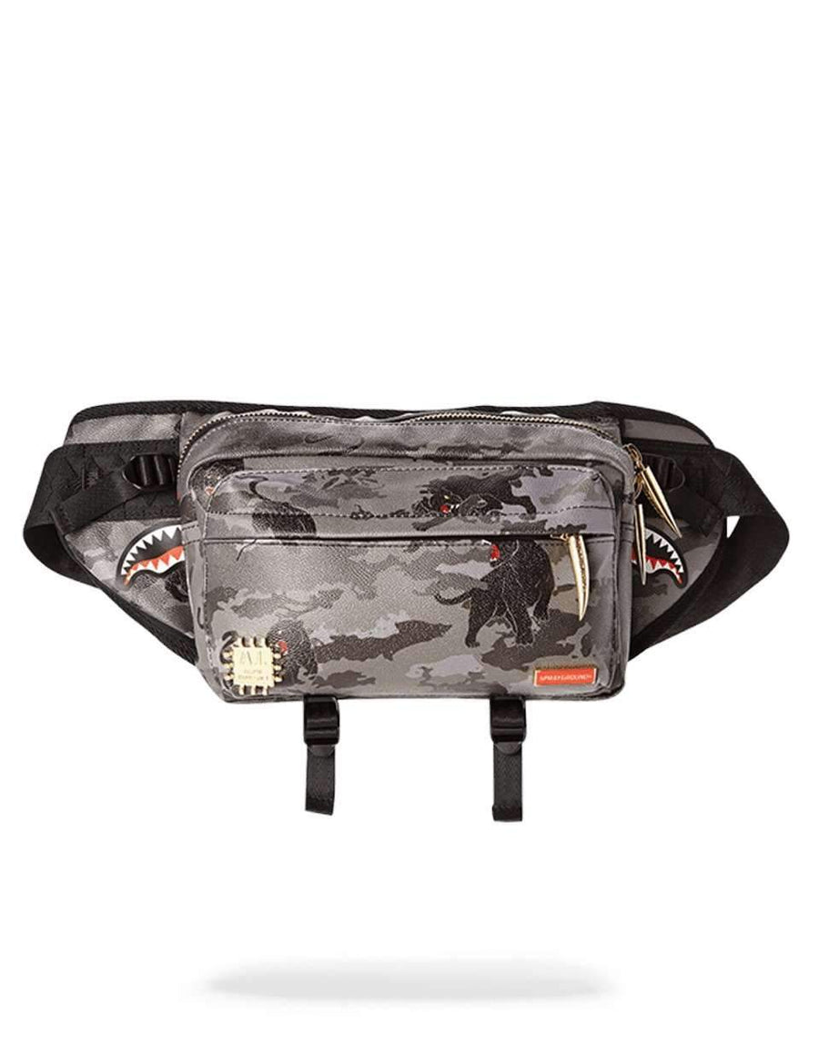 BLACK PANTHERA CAMO CROSSBODY