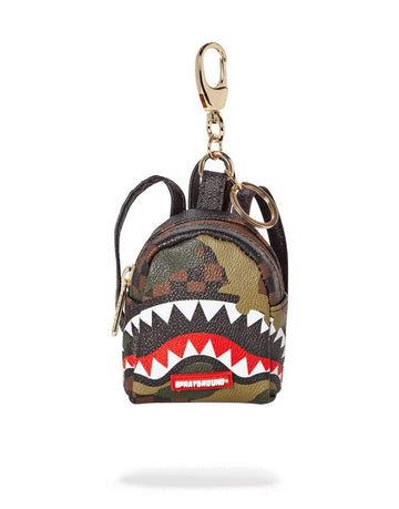 CAMO CHECKERED SHARK KEYCHAIN