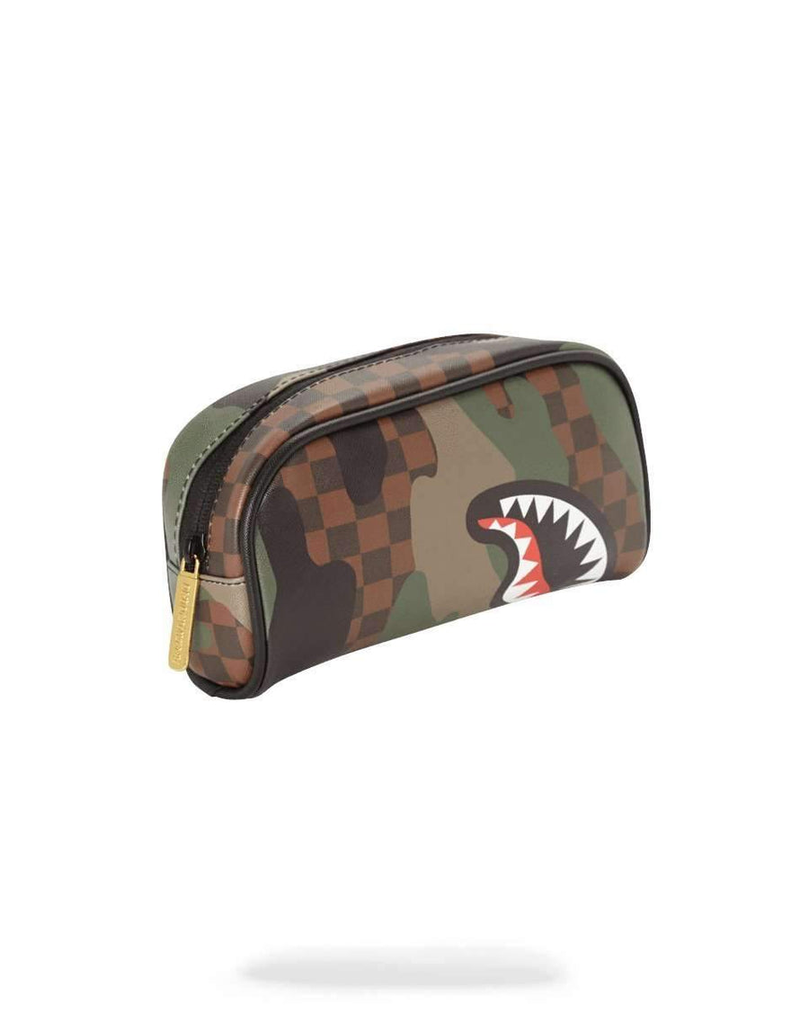 CAMO CHECKERED SHARK PENCIL CASE קלמר