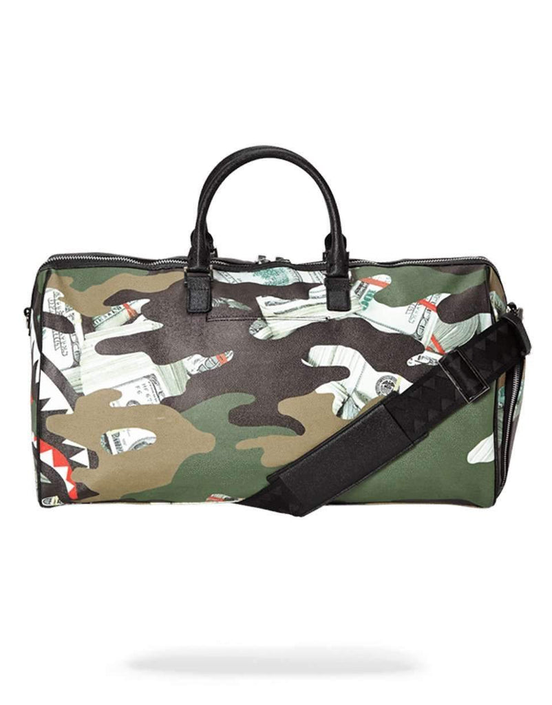 CAMO MONEY SHARK DUFFLE