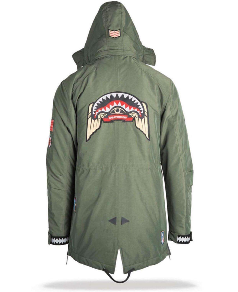 Green Army Patches Jacket