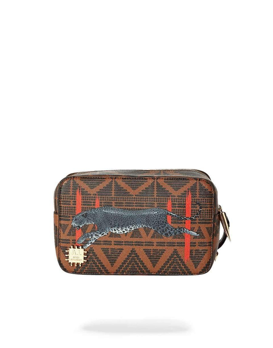 LEOPARDS IN PARIS TOILETRY BAG