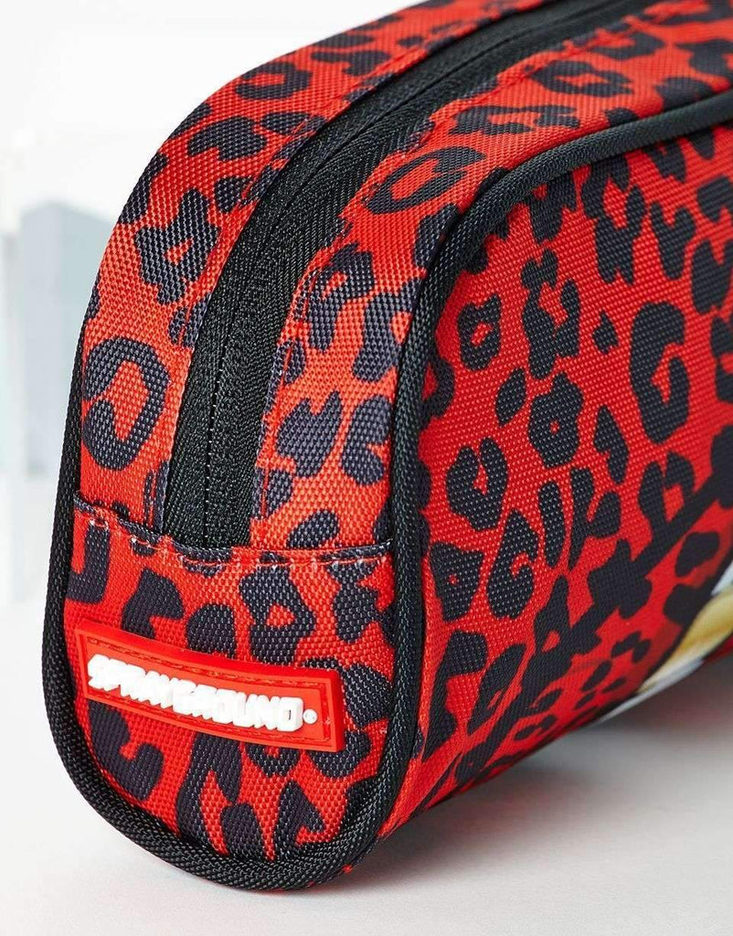 RED LEOPARD LIPS PENCIL CASE
