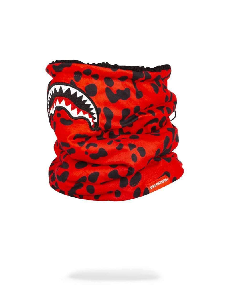 RED LEOPARD NECK WARMER w18
