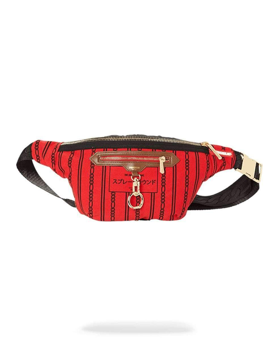 REVERSE SHARKS IN PARIS CROSSBODY (RED)