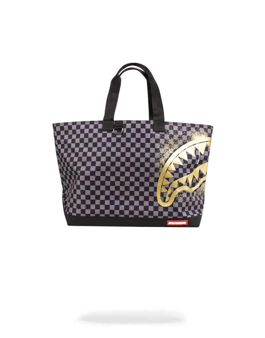 SHARKS IN PARIS GOLD STENCIL TOTE