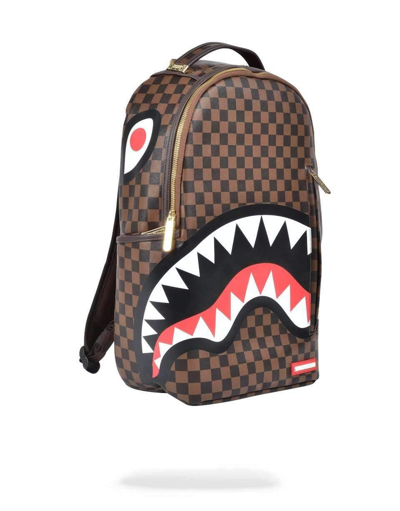 SHARKS IN PARIS GOLD ZIPPER BACKPACK