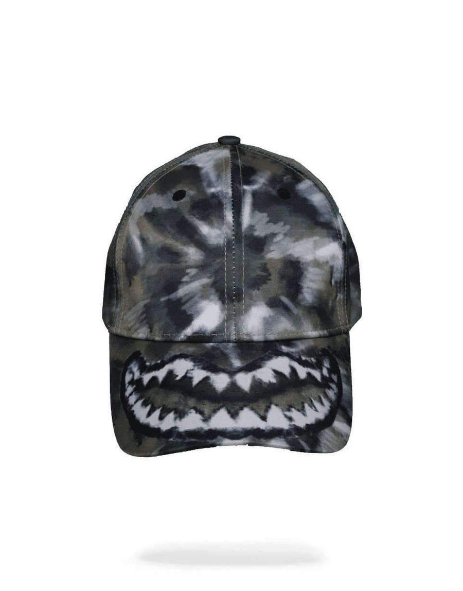 TIE DYE GREEN SHARK MOUTH HAT