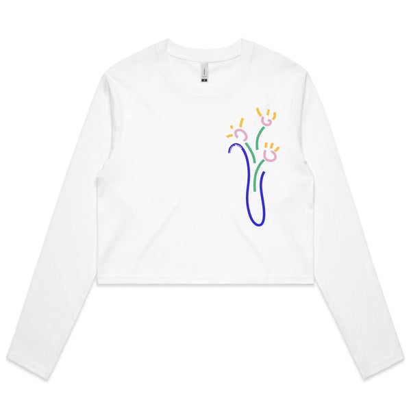 Florero Long Sleeve Crop Tee - Bamba Bamba Collective