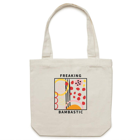 bamba-bamba,Freaking Bambastic Shopping Tote,Ogo Merch,BAGS.
