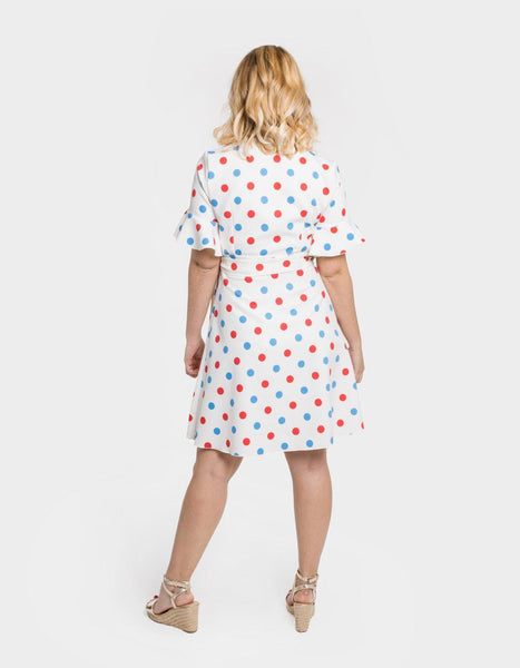 bamba-bamba - Lunares Wrap Dress - Bonica In Love - DRESSES