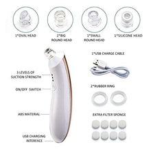 Load image into Gallery viewer, Blackhead Remover Pore Vacuum, Electric Skin Facial Pore Cleanser USB Rechargeable