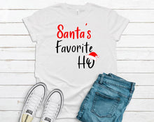 Load image into Gallery viewer, Santa's + Santa's Favorite Funny Couples Tee