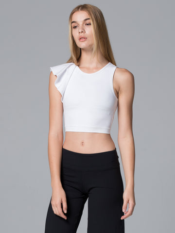 LILY CROPPED TOP, WHITE