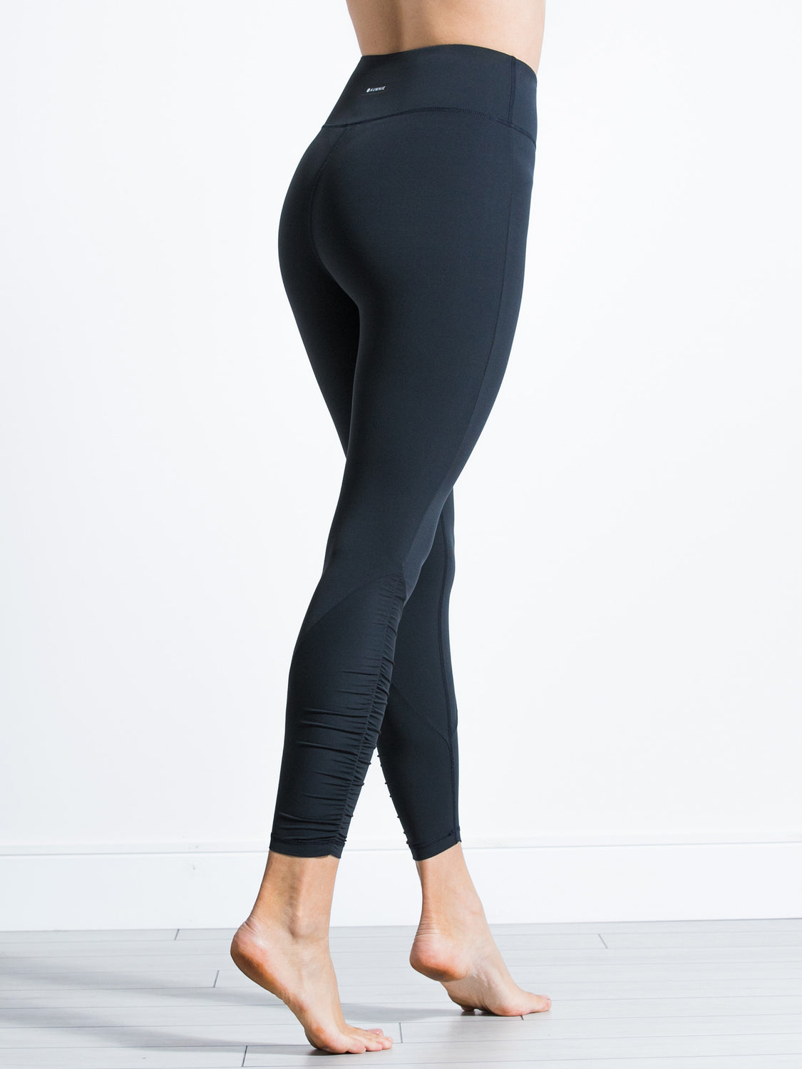 RUCHED NUDE PANTS, MIDNIGHT GREY