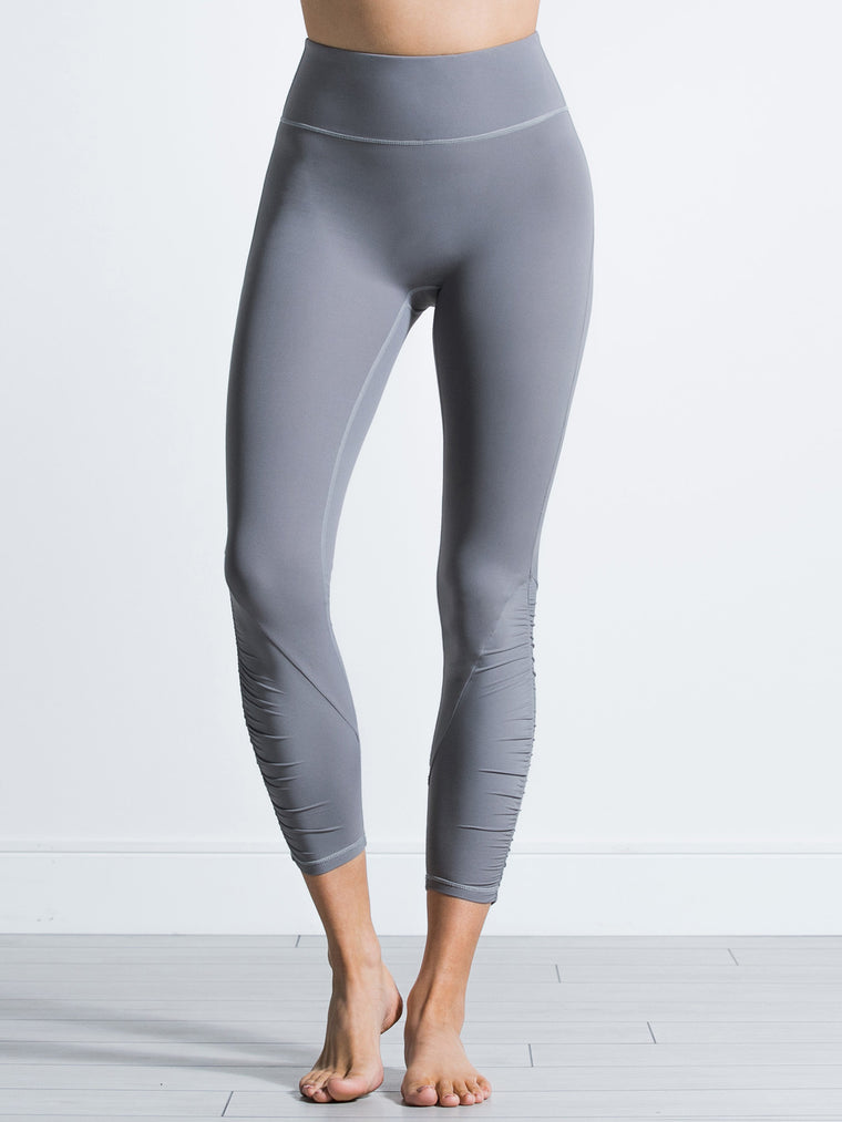 RUCHED NUDE PANTS,LUNAR GREY