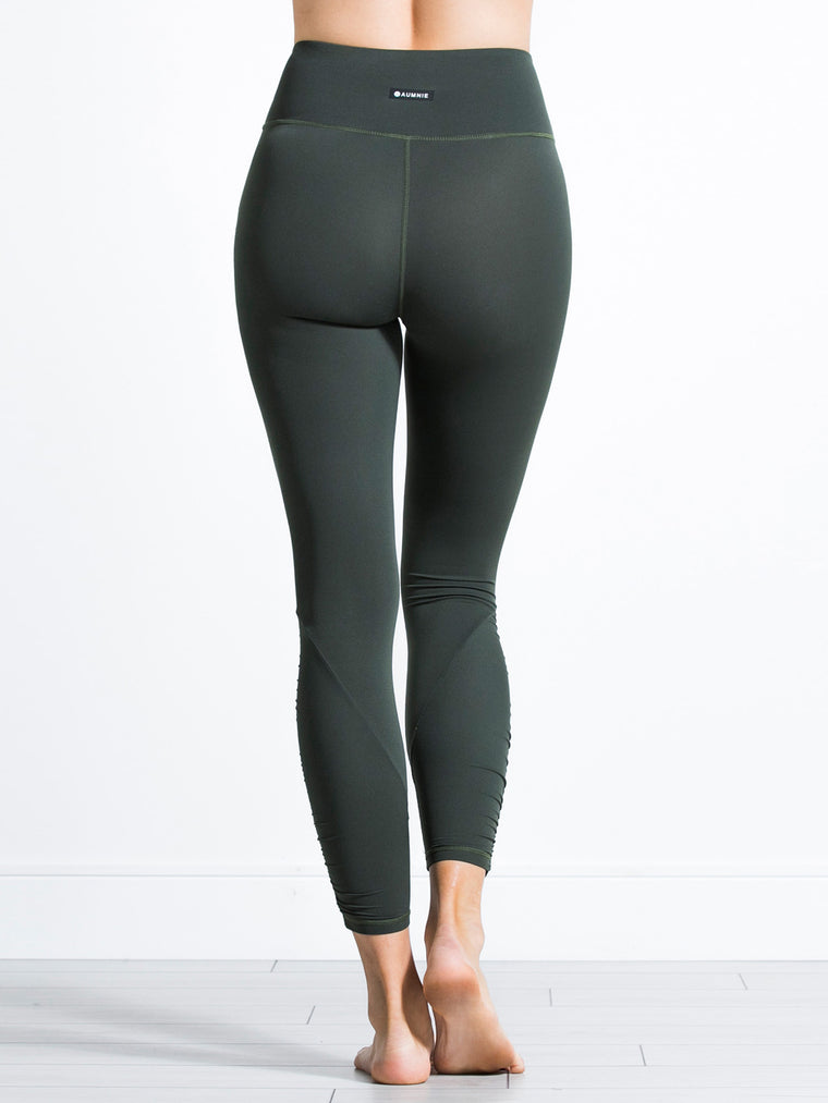 RUCHED NUDE PANTS, DEEP FOREST