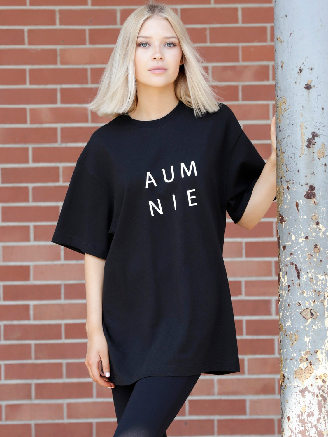 HEAVY COTTON OVERSIZE TEE, BLACK