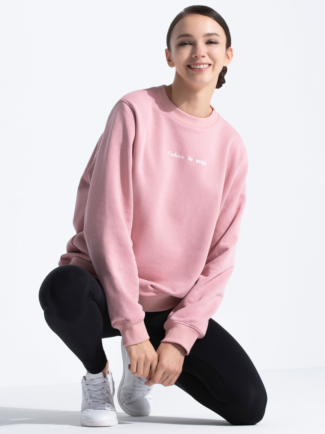 FRENCH YOGA SWEATSHIRT, PINK