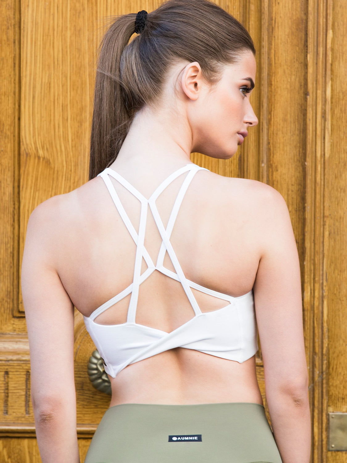 TWIST BRA, WHITE