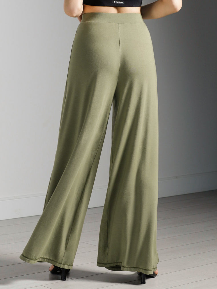 SOFT WIDE LEG PANTS, SAGE MODAL