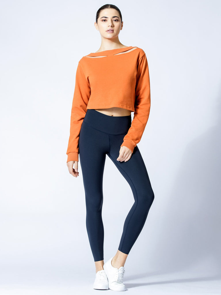 DETACHED COLLAR SWEATSHIRT, SUNSET