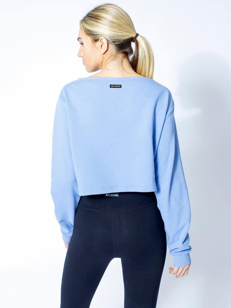DETACHED COLLAR SWEATSHIRT, HELIO