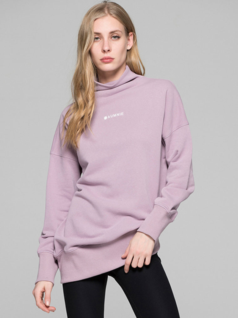 LONG SWEATSHIRT, PURPLE