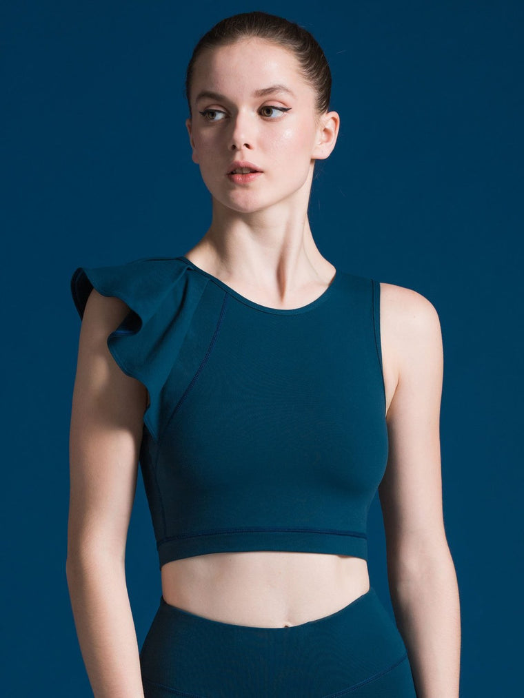 LILY CROPPED TOP, LAKE