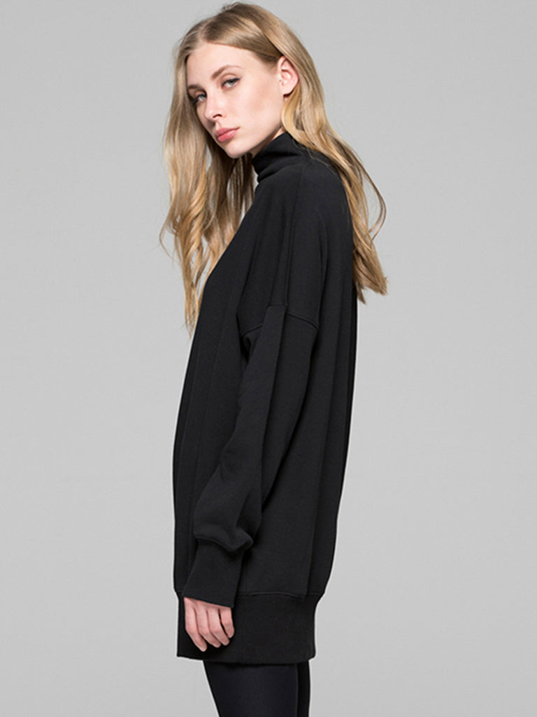 LONG SWEATSHIRT, BLACK