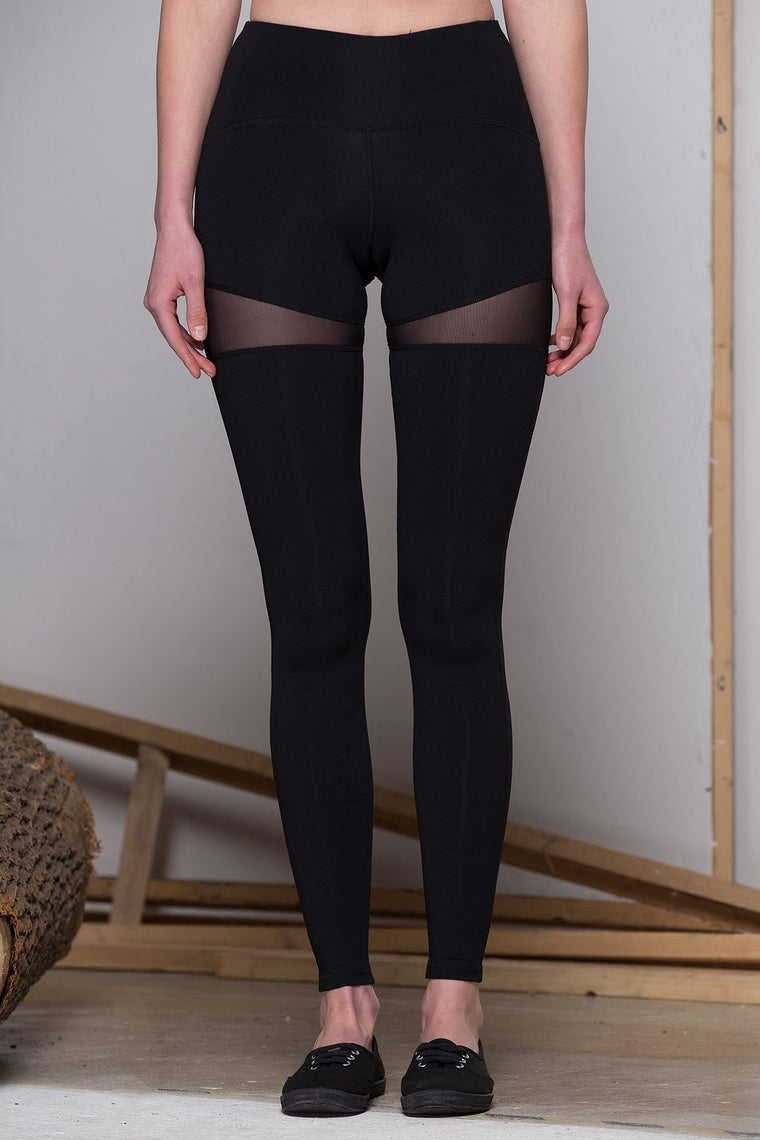 CRYSTAL PANTS, BLACK