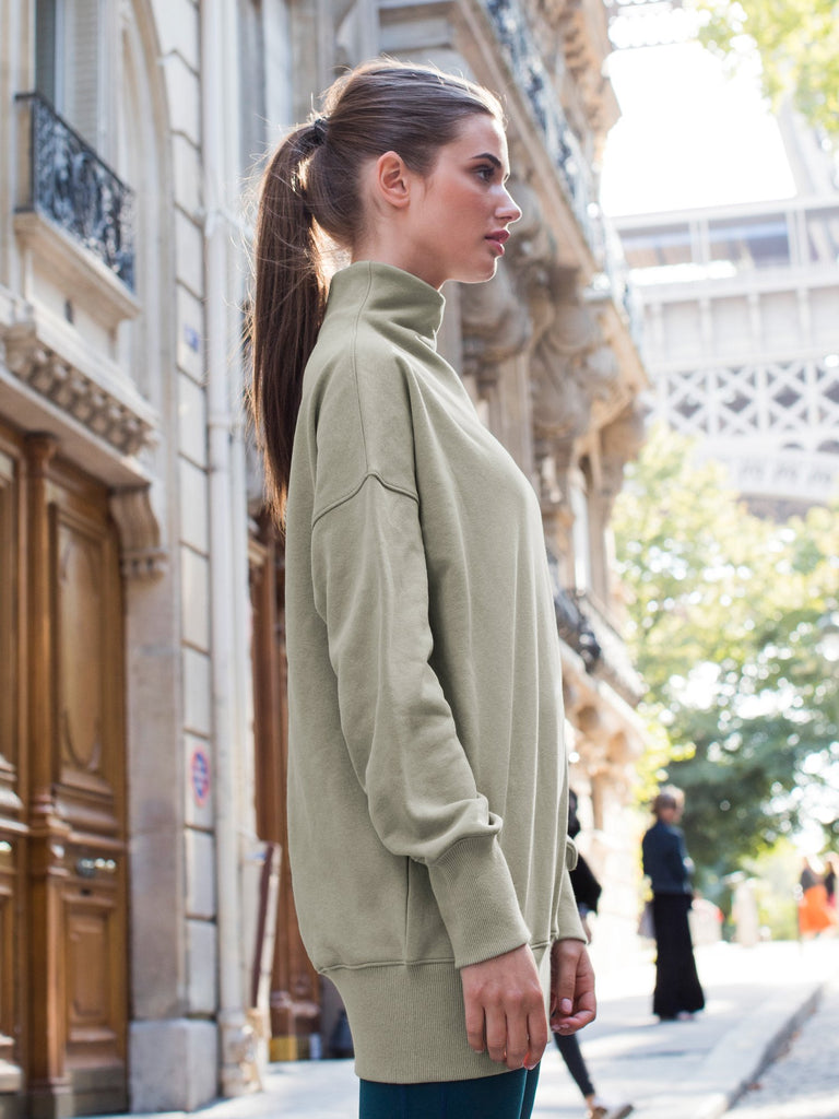 LONG SWEATSHIRT, GREEN