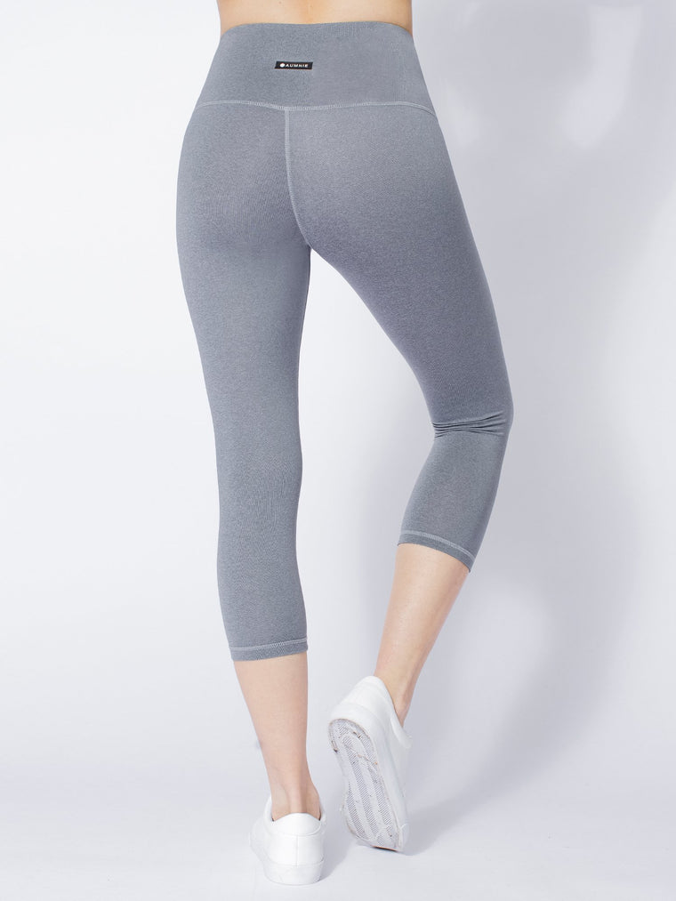 HIGH WAIST 50/20 CROPS, LIGHT HEATHER GREY