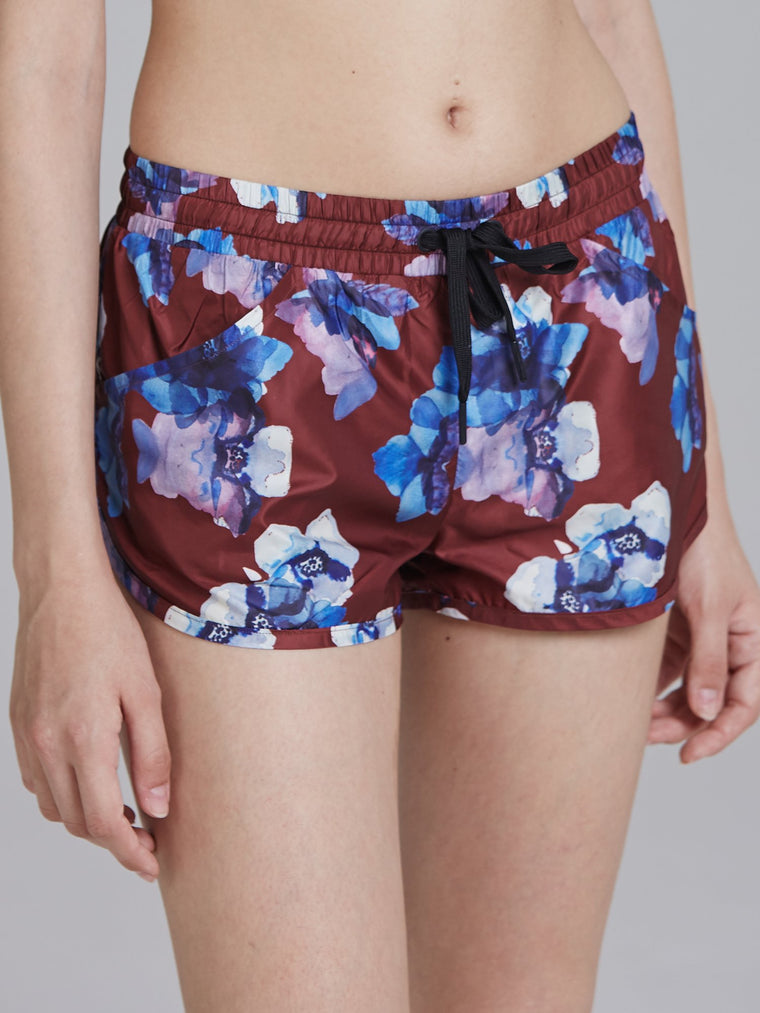 RELAY RUNNING SHORTS, HIBISCUS