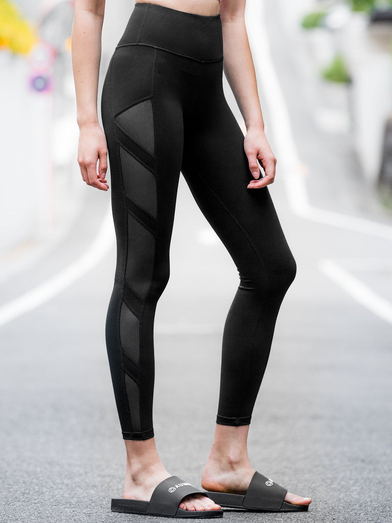 INTERSECTION PANTS, BLACK/BLACK MESH